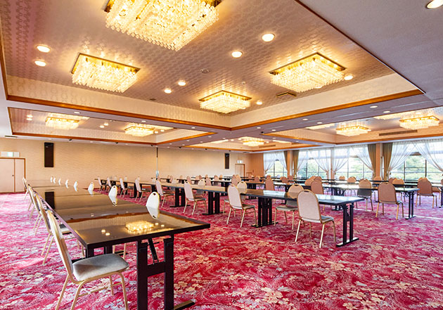 200名様まで着席可能な洋室大宴会場レストラン「たかの間」